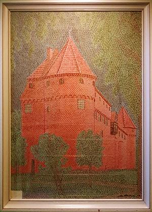 Nyborg slot collage med frimærker